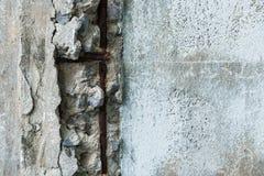 Betonowy palowanie w stanach disrepair zdjęcia stock