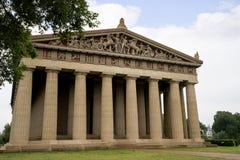 Betonowy pełny - sklejona replika Parthenon świątynia w Nashville Tennessee Zdjęcie Royalty Free
