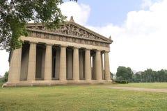 Betonowy pełny - sklejona replika Parthenon świątynia w Nashville Tennessee Zdjęcie Stock