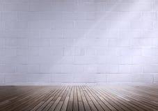 Betonowy pokoju kąta cienia światła słonecznego tapety pojęcie Fotografia Stock