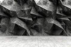 Betonowy poligonalny szarości ściany tło Obraz Stock