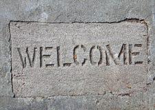 betonowy powitanie Zdjęcia Stock