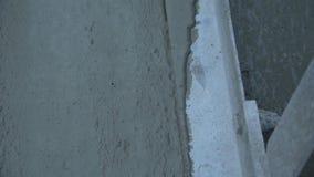 Betonowy pracownik Gładzi Mokrego beton zdjęcie wideo