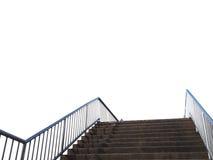 Betonowy schodowy sposób odizolowywający na białym tle Zdjęcia Royalty Free