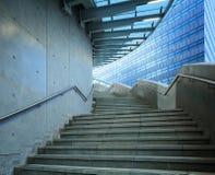 Betonowy schody przy plenerowym Zdjęcie Royalty Free