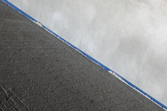 Betonplatte und Wand Stockfoto