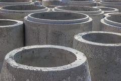 Betonrohr für Abwasserhintergrund Lizenzfreie Stockfotografie
