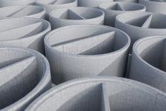 Betonschaftseinsteigelochringe - Wiedergabe 3D stock abbildung