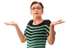 Betonte Frauenhände oben Lizenzfreie Stockfotografie