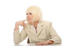 Betonte Geschäftsfrau Lizenzfreies Stockbild