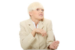 Betonte Geschäftsfrau Lizenzfreie Stockbilder