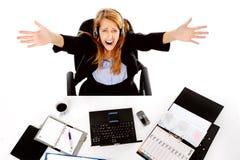 Betonte heraus Geschäftsfrau Lizenzfreies Stockfoto