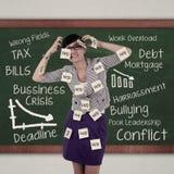 Betonter Angestellter Stockfoto