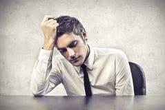 Betonter Büroangestellter Lizenzfreie Stockfotos