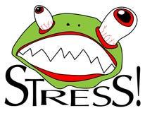 Betonter Frosch Stockfoto
