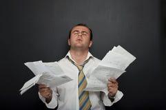 Betonter u. frustrierter Geschäftsmann stockbilder