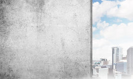 Betonu pusty sztandar Fotografia Stock