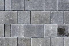 Betonuje bruków kamienie dla podłoga lub brukuje szare cegiełki lub, wal zdjęcia stock