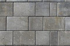 Betonuje bruków kamienie dla podłoga lub brukuje szare cegiełki lub, wal zdjęcie stock