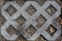 Betonziegelgrillmuster-Beschaffenheitshintergrund lizenzfreies stockfoto