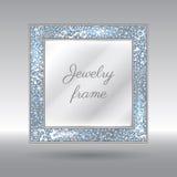 Betoverend Kader met Fonkelende Verspreide Diamanten Stock Foto