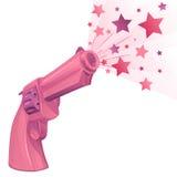 Betoverend mooi roze kanon op een witte achtergrond Royalty-vrije Stock Fotografie