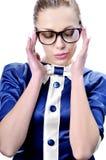 Betoverende bedrijfsvrouw of leraar die glasse dragen Stock Afbeelding