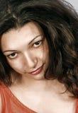Betoverende brunette Royalty-vrije Stock Afbeeldingen
