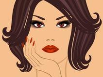 Betoverende brunette vector illustratie