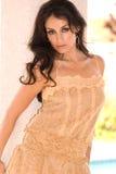 Betoverende brunette. stock foto