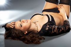 Betoverende dame in lingerie Stock Foto