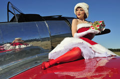 Betoverende Kerstmisspeld op meisje Royalty-vrije Stock Afbeelding