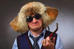 Betoverende mens in hoed Royalty-vrije Stock Afbeelding