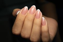 betoverende mooie manicure Royalty-vrije Stock Afbeeldingen