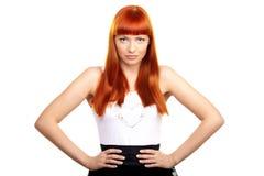 Betoverende redhead vrouw royalty-vrije stock foto