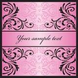 Betoverende roze kaart. Stock Afbeelding