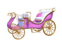 Betoverende roze vervoer gouden wielen Royalty-vrije Stock Foto's