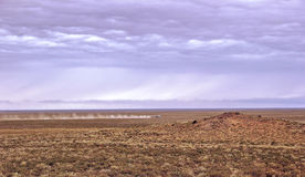Betpakdala-steppe in southern Kazakhstan Royalty Free Stock Photography