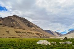 Beträchtliche Landschaften im ladakh Indien lizenzfreies stockfoto