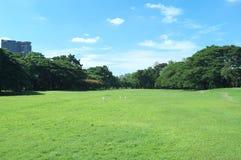 Beträchtliches Feld von Wachirabenchathat-Park stockfoto