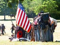 beträffande amerikanska borgerliga enactors kriger Royaltyfri Foto