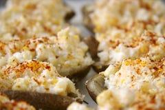 beträffande bakade potatisar Royaltyfri Bild