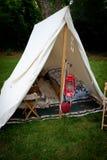 Beträffande-enactment Tent Royaltyfri Foto