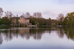 Beträffande slott för Schloss Monrepose Stuttgart Ludwigsburg Tysklandslott Arkivbilder