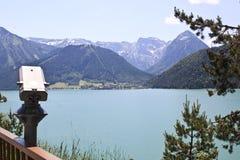 Betrachten über dem Achensee in Österreich Lizenzfreies Stockbild