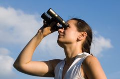 Betrachten des Himmels Lizenzfreie Stockfotografie