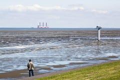 Betrachten des Turbinen-Installations-Schiffes, Holland Lizenzfreies Stockbild