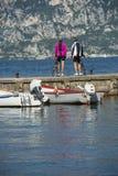 Betrachten Sie den See - Fahrradträume Lizenzfreie Stockbilder