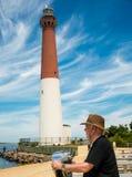 Betrachten Sie heraus durch den Zuschauer Long Beach -Insel, NJ, USA Lizenzfreie Stockfotografie