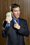 Betrachten Sie mein ganzes Geld Stockfotografie